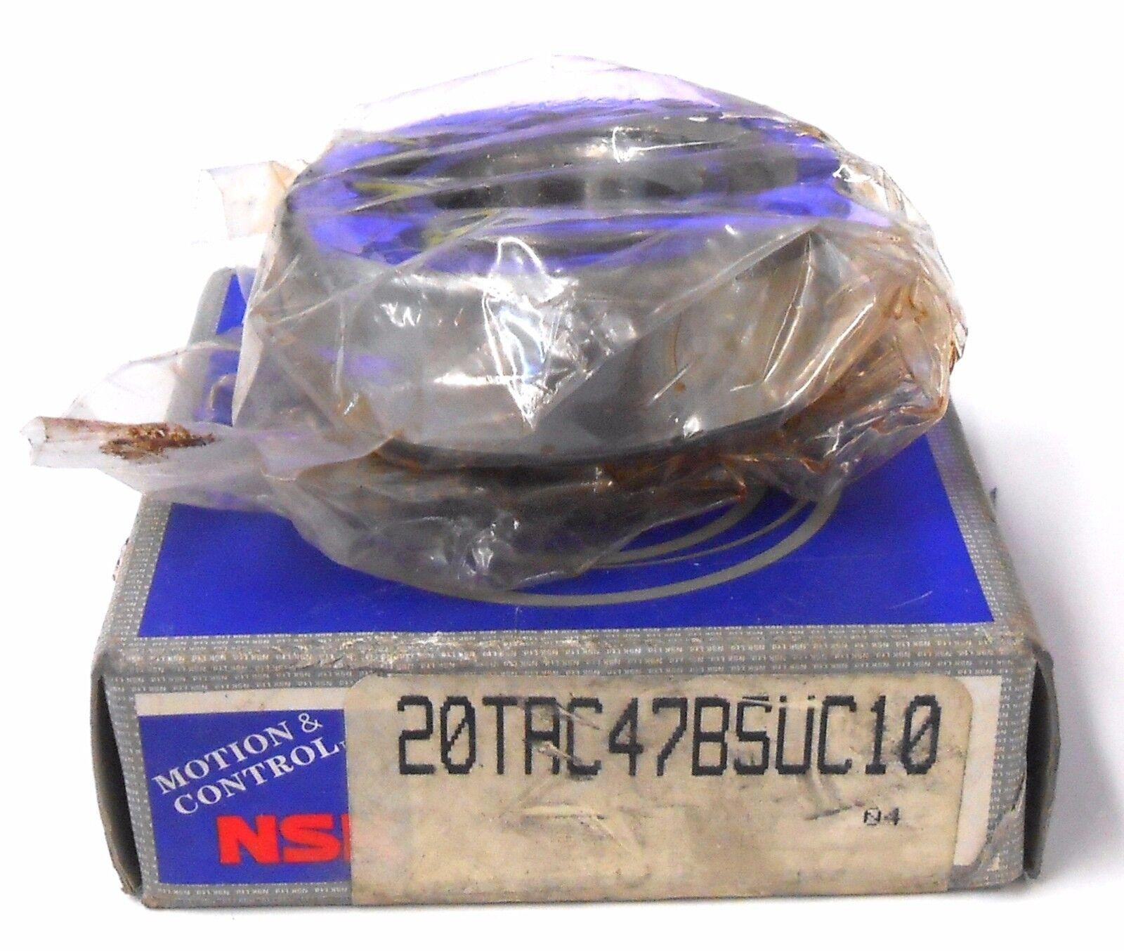 NSK BEARING 20TAC476SUC10, 20 MM BORE, 47 MM OD, 15 MM WIDTH