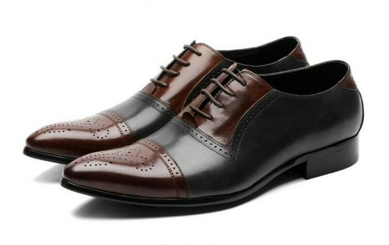 Mens Spring Business Formal Match color Hollow Out Carving Lace UP Wedding shoes