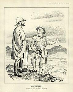 WW 2 British Cartoon - ETHIOPIA - Hallie Selassie & Gen. Archibald Waverly ITALY | eBay
