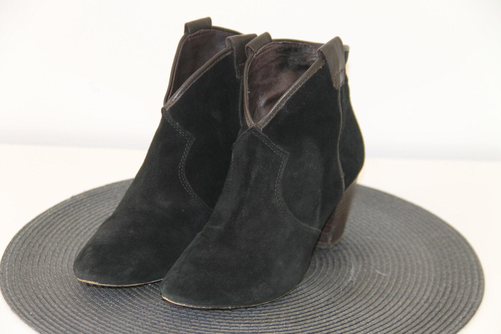 Carini taglia stivali in pelle scamosciata nero ASH taglia Carini 36 in perfette condizioni 38ea65