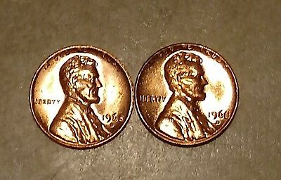 Penny in MINT CELLO uncirculated BU RED 1980 D Lincoln Memorial Cent