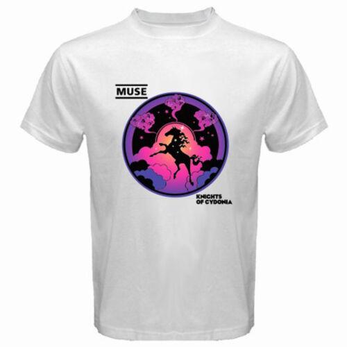New MUSE Knights of Cydonia Rock Band Men/'s White T-Shirt Size S M L XL 2XL 3XL