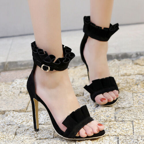 Women Gladiator Sandals Plus Size Open Toe Stiletto High Heel Party Pumps Shoes