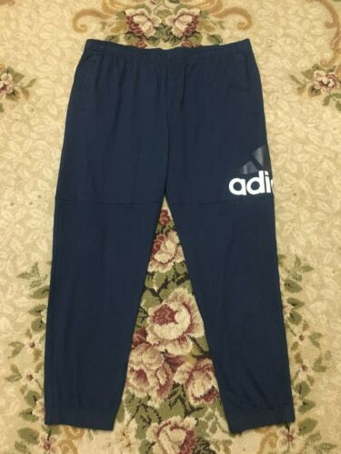 Collegiate Navy//White BK7410 2XL adidas Men/'s Essentials Performance Logo Pants