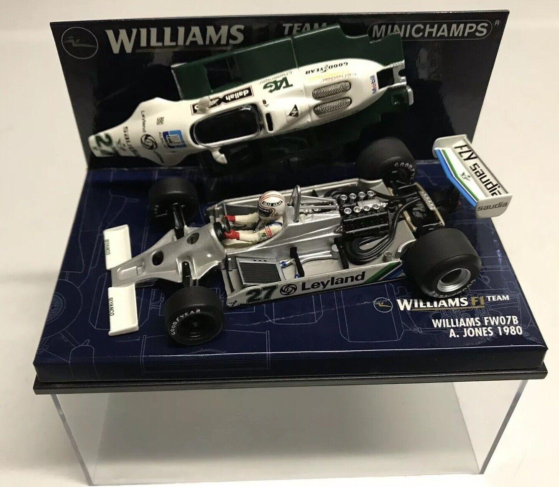 moda Minichamps Minichamps Minichamps Alan Jones 1980  27 Williams Saudia FW07B GP 1 43 NIB •  protezione post-vendita