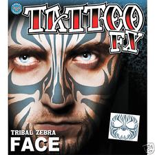 Tribal Zebra Costume Face Kit Temporary Tattoo FX Tinsley Transfers Costume