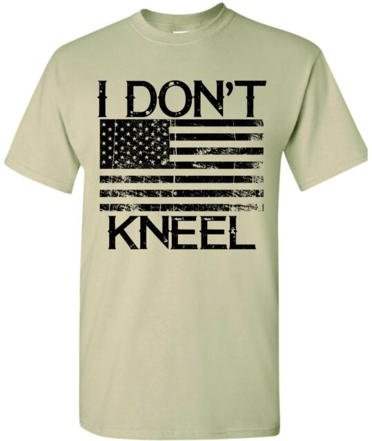 super popular 751bb accab I Don't Kneel Flag Shirt Support American USA Military America DONT TREAD  ON ME