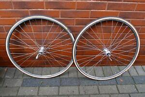 80s racing wheel set 700C Wolber Profil 18 Campagnolo Chorus hubs 35x24 F thread