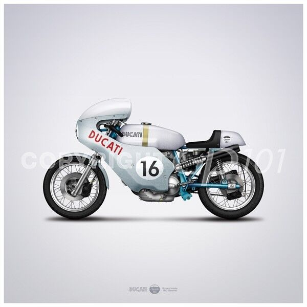 Vintage Ducati Poster 45
