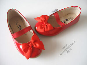 NEW-Girls-Flat-Ballet-Leather-Patent-Shoes-Approx-1-10YR-sz-3-13-and-Big-1-2-3