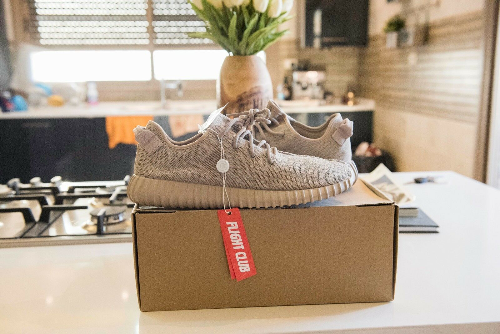 ADIDAS YEEZY BOOST 350  OXFORD TAN   Authentic 100% int shipping size 12.5