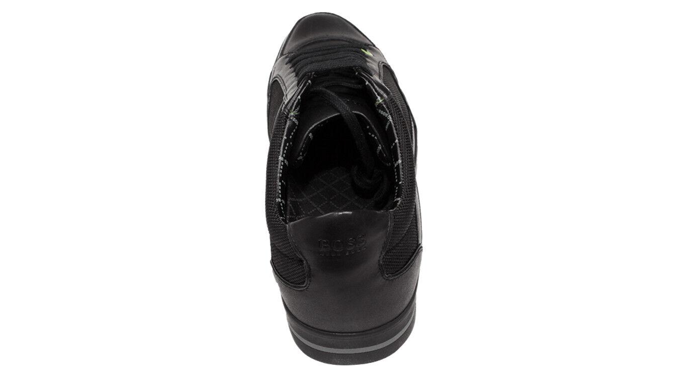 Hugo Boss schwarz Herren Sneaker Apache IV schwarz Boss 39 UK 5 US 6 Leder Textil green Label bcb761