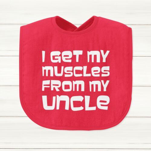 Je reçois mes muscles de mon oncle Baby Grow Body Costume Gilet Mignon Bib Dieu fils