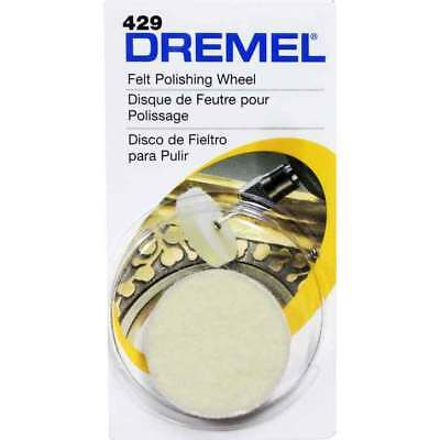 Dremel 429 3 x 26mm Felt Cloth Polishing Buffing Wheel for High Speed Drill Tool