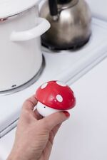 Kikkerland Wind Up 60 Minute Kitchen Cooking Timer Red & White Mushroom Gift