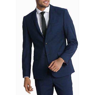 NEW Wolf Kanat Diamonds Slim Travel Suit Jacket Elec Blue