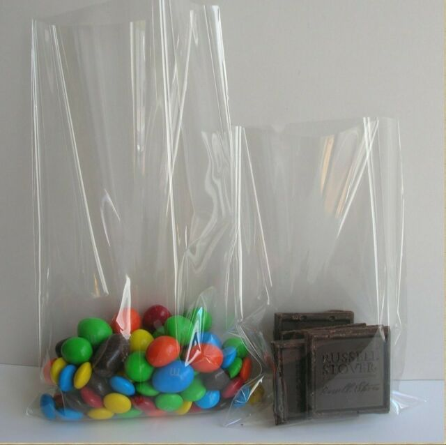 1.2mil 200x Clear Flat Cello//Cellophane Treat Bag 2x4 inch Gift Basket