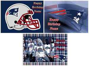 EDIBLE CAKE TOPPER NEW ENGLAND PATRIOTS ICING SHEET PARTY ...