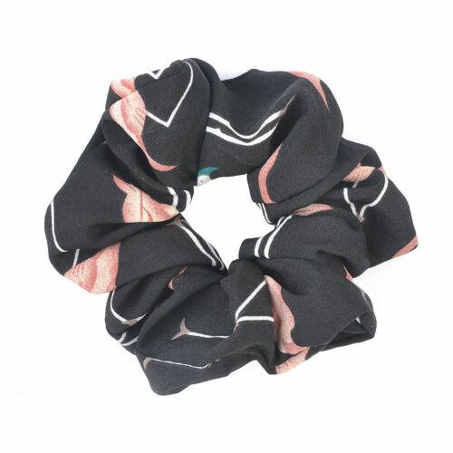 Women Elastic Hair Rope Ring Tie Scrunchie Ponytail Holder Flamingos Accessories