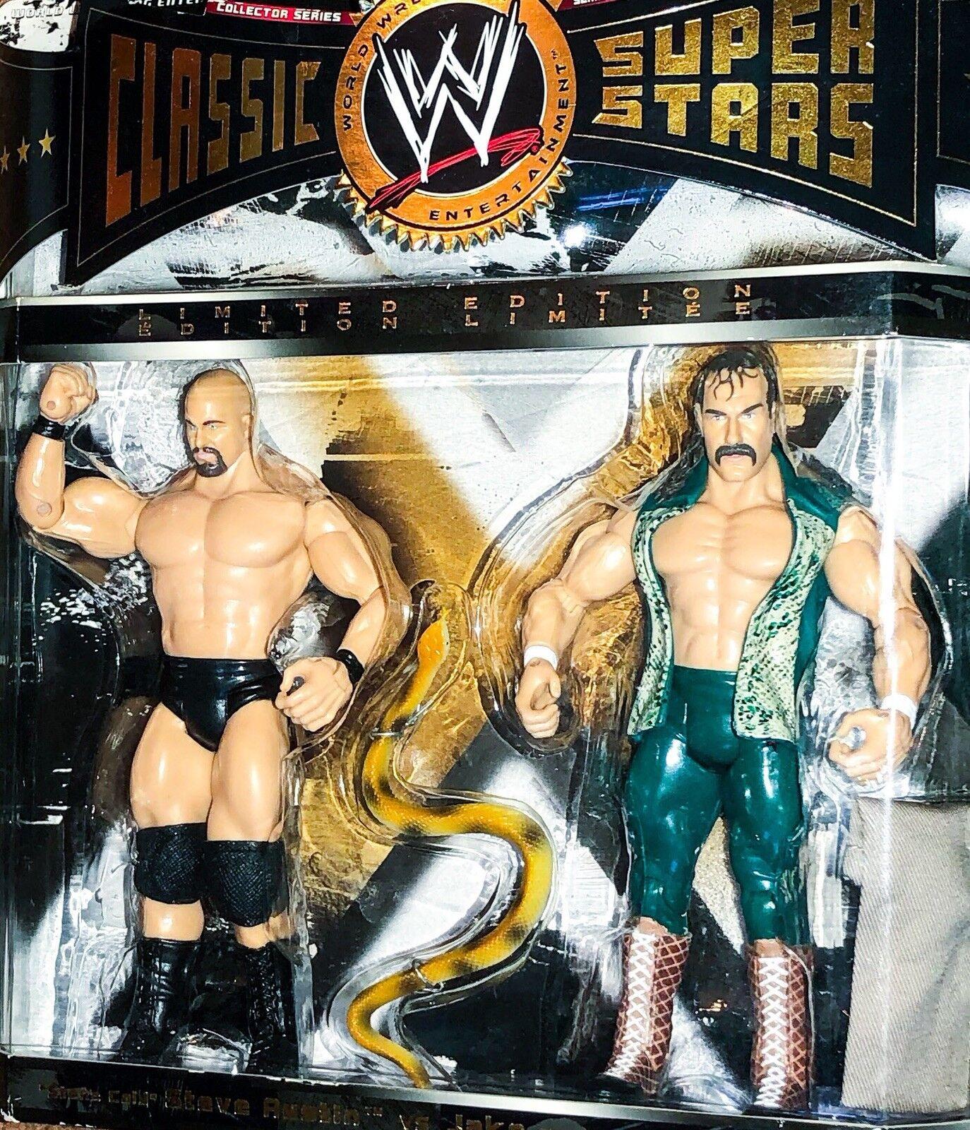 STONE COLD 3:16 Jake The Snake WWE WWF CLASSIC SUPERSTARS Wrestling Figure JAKKS