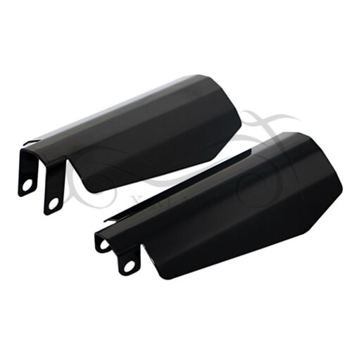Motorcycle Memphis Shades Black Metal Coffin Cut Hand Guards for Harley Dyna USA