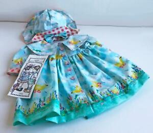DAISY-KINGDOM-APRIL-SHOWERS-Raincoat-Hat-Laminated-for-American-Girl-Doll-RAREl