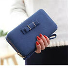 HOT Fashion Women Bowknot Wallet Long Purse Phone Card Holder Clutch Pocket Bag