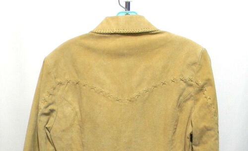 Creek Womens Cripple Fitched Crop Western beige Giacca Zip Collar in Lined pelle 5ddra