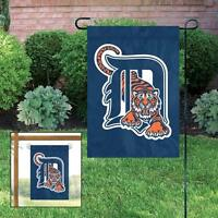 Detroit Tigers Applique And Embroidered Mini Garden/window Flag
