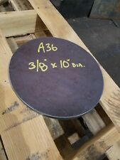 Steel Plate Round Disc 10 Diameter X 38 Thick A36 Lathe Stock
