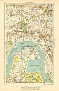 1936 Large Scale London Map Shepherd S Bush Hammersmith Castelnau