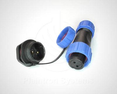 Steckverbinder 2/3/4-polig Kabelbuchse (Kupplung) und Einbaustecker IP68 M13