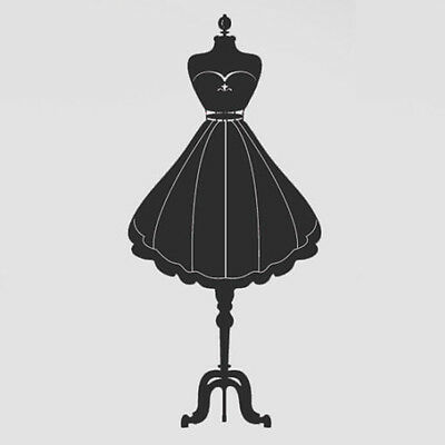 Black Fashion Mannequin Dress Model Car Window Bumper Wall Home Laptop Sticker
