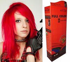 Hair COLOUR Permanent Hair Cream Toner Dye Goth Punk Rock Glam BRIGHT FIRE RED