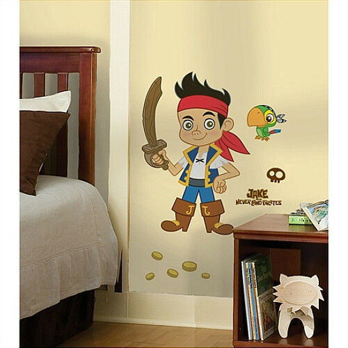 JAKE and the NEVERLAND PIRATES wall stickers MURAL 17 decals parrot Disney 32
