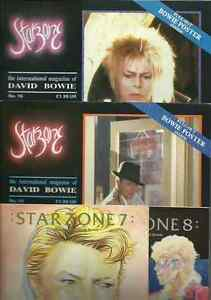 DAVID-BOWIE-starzone-numbers-7-8-15-16-international-magazine-80-039-s-pack-X-4-OOP