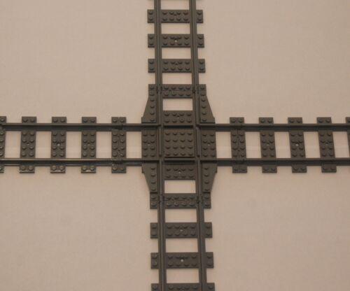 Crossover Track gray Custom Lego 90 Deg Crossing Power Function /& RC Train