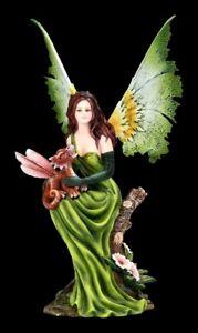 Elfen Figur - Aphra Fee der Natur   Fairy Fee Fantasy Baby Drache
