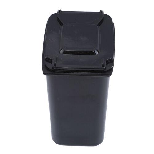 Mini Trash Can Desk Wastebasket with Lid Desktop Garbage Bin Box FM