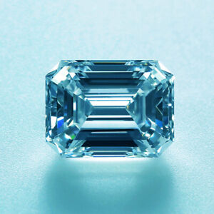 Loose Moissanite Off White Blue Pear Diamond Cut Lab Created Best For Jewelry