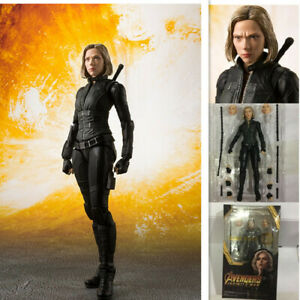 S-H-Figuarts-SHF-Avengers-Infinity-War-Black-Widow-PVC-Action-figure-Toy-gift