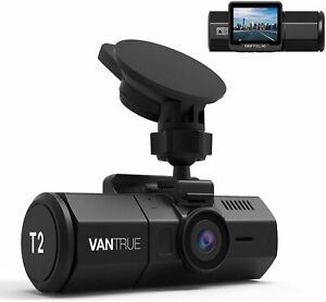Vantrue T2 24 7 Recording Dash Cam 1920x1080p 2 Lcd 160 Car Camera New Ebay