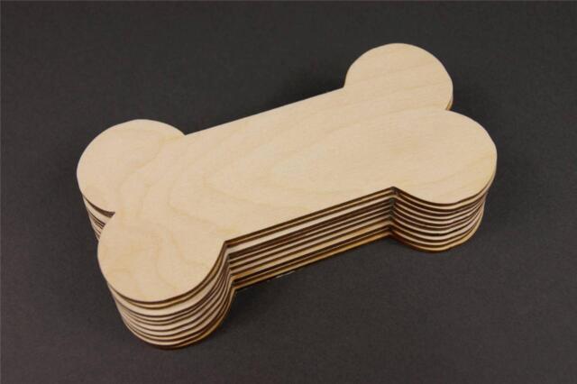 5x wooden dog bone large bones shapes gift tags blank craft