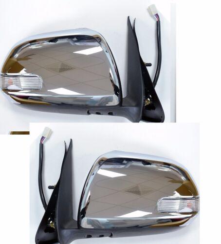 Toyota Hilux 2012-Espejo De Ala Puerta Eléctrica De Cromo Con Indicador Par
