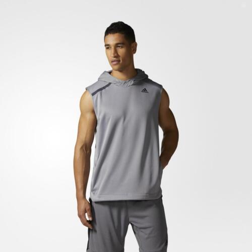 Mens Adidas Shooter Sleeveless Vest Hooded Tank Top Training//Running CF1117 New
