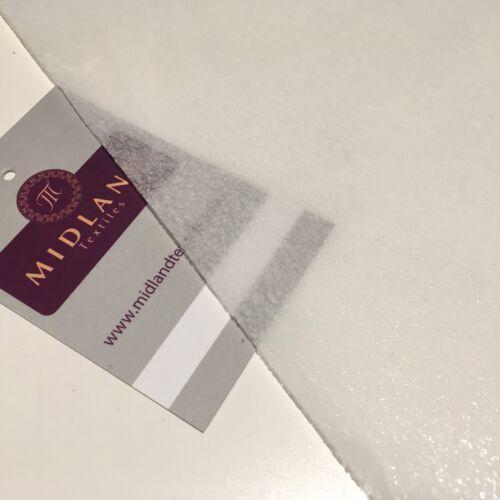 "White Medium weight iron on interfacing Fabric 39/"" Wide ME829 Mtex"