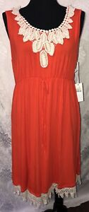 Womens-Liz-Lange-Maternity-Sleeveless-Swing-Dress-Size-XL-Cherry-Tomato-NWT