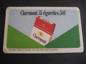 CLAREMONT. DESSOUS DE VERRES TABAC- CIGARETTES vEtfjYAf-09114639-883710922