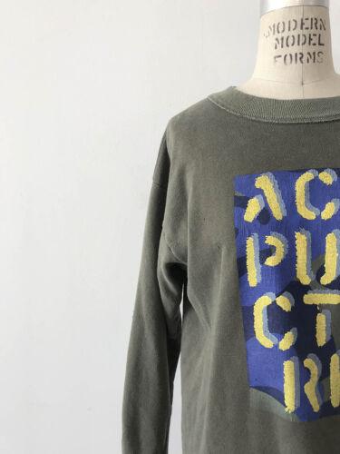 ⭕ 90s Vintage ACUPUNCTURE London sweat shirt : vex