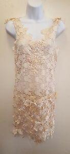 Gatsby-20-039-s-Ivory-3D-Lace-Mini-Sheath-Dress-Wedding-Party-Bridal